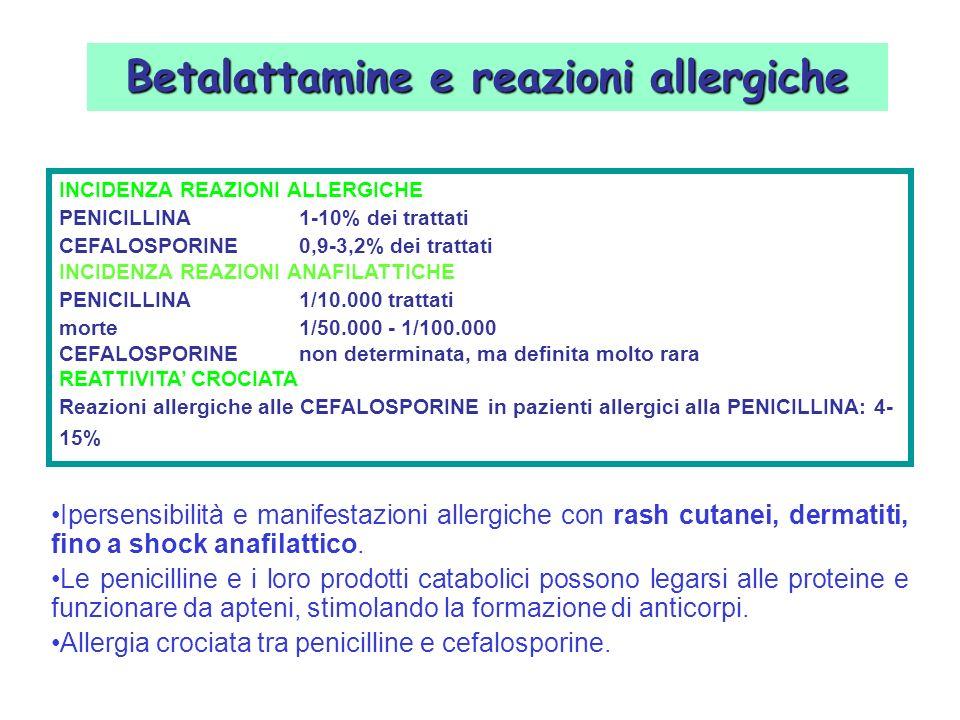 Betalattamine e reazioni allergiche