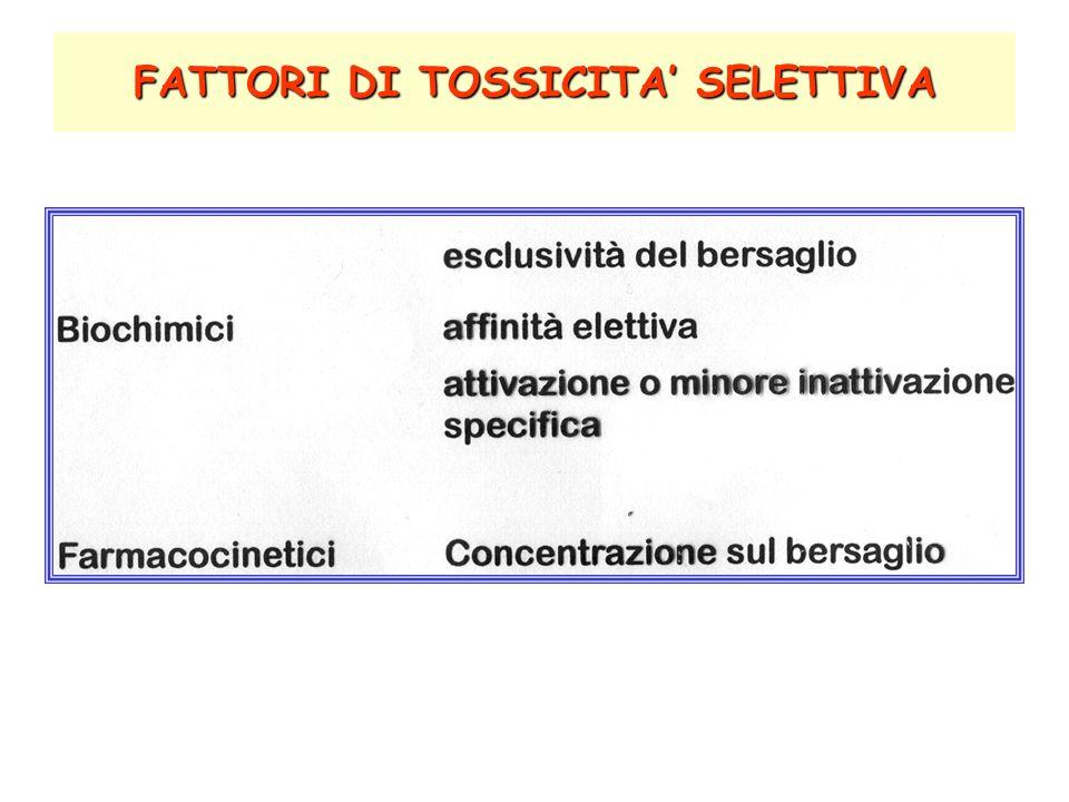 FATTORI DI TOSSICITA' SELETTIVA