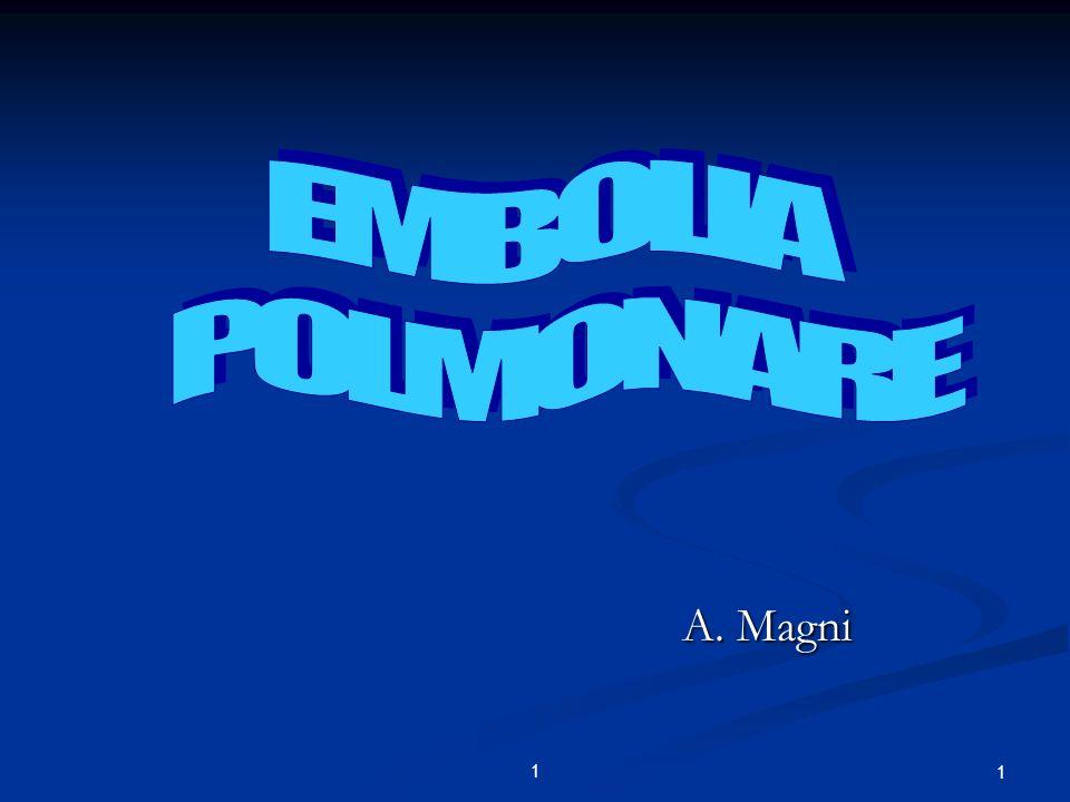EMBOLIA POLMONARE . A. Magni 1