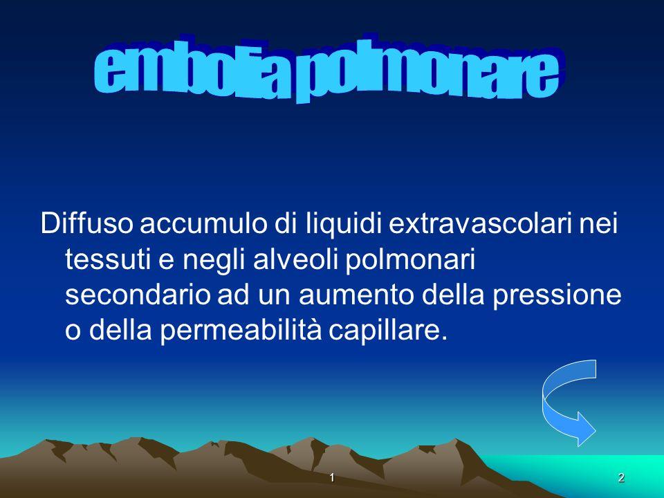 . embolia polmonare.