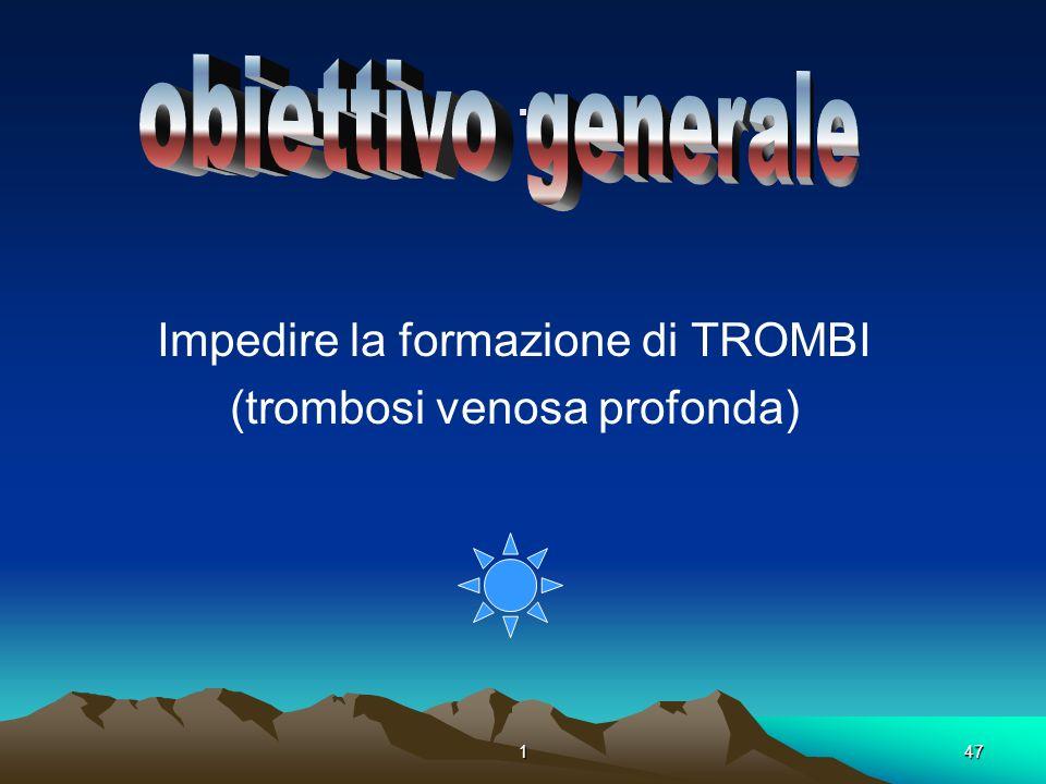 . obiettivo generale Impedire la formazione di TROMBI