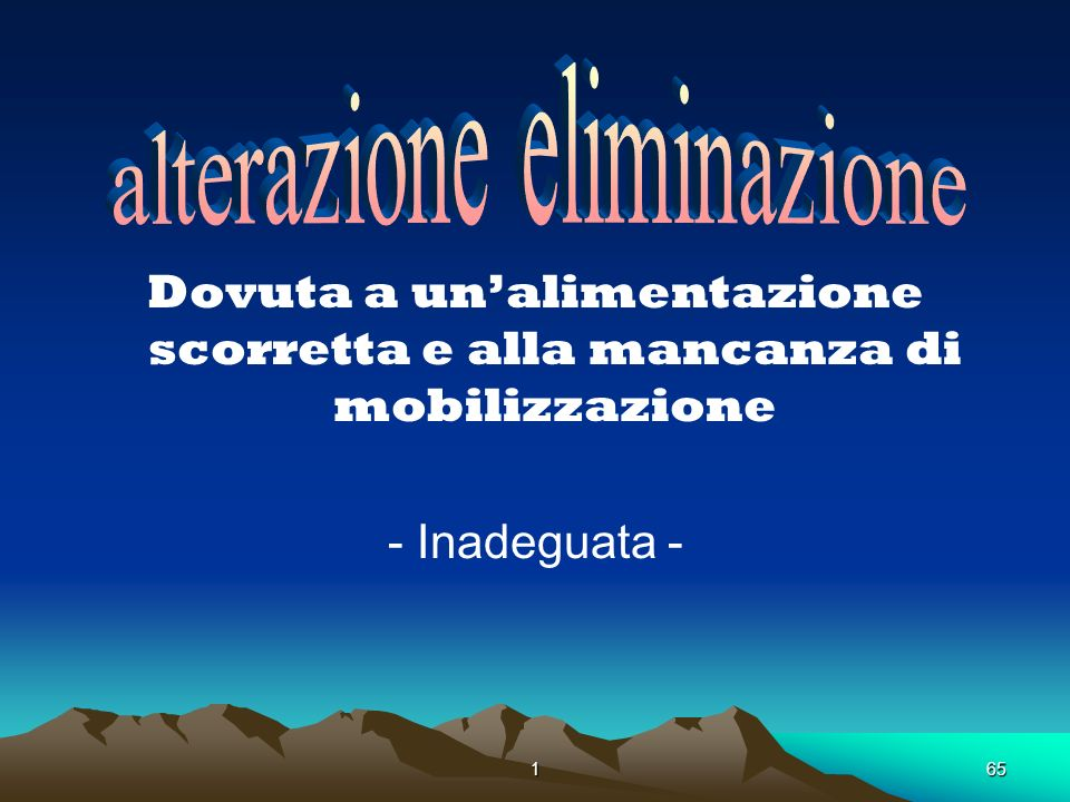 . alterazione eliminazione
