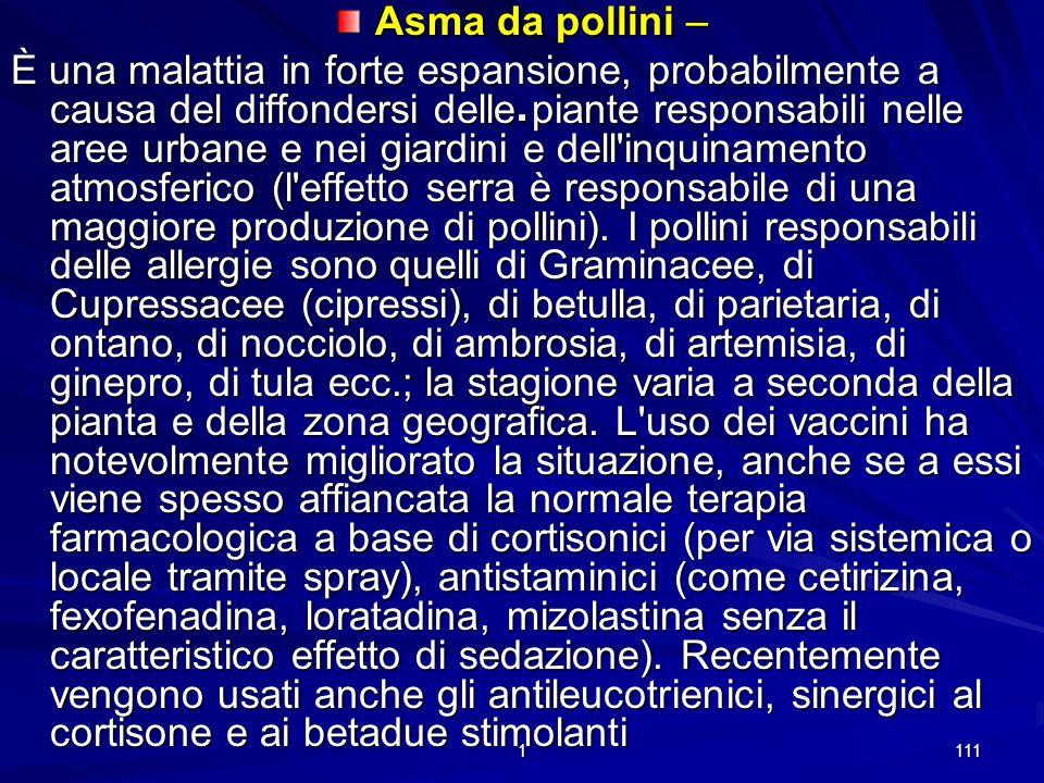 Asma da pollini –