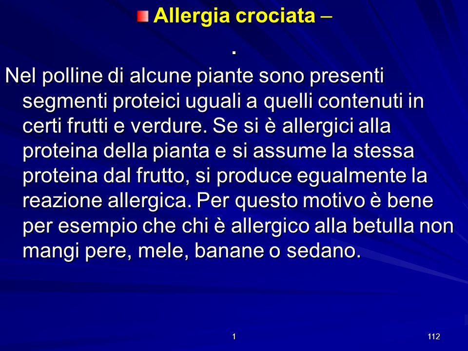 Allergia crociata –
