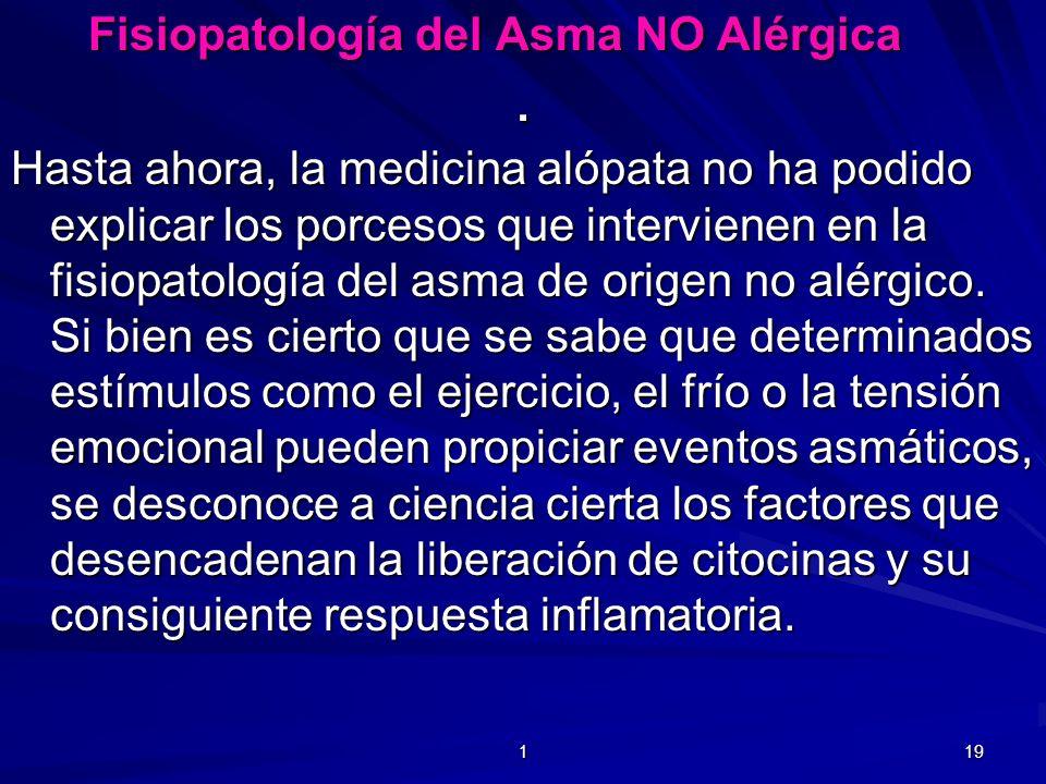 . Fisiopatología del Asma NO Alérgica