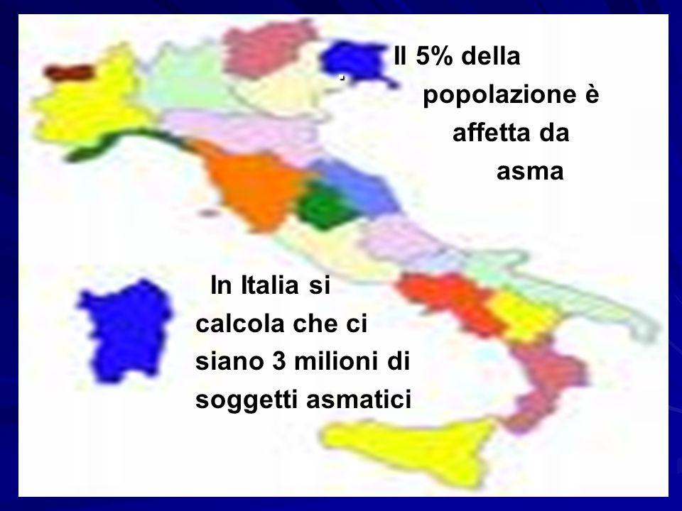 . Il 5% della popolazione è affetta da asma In Italia si