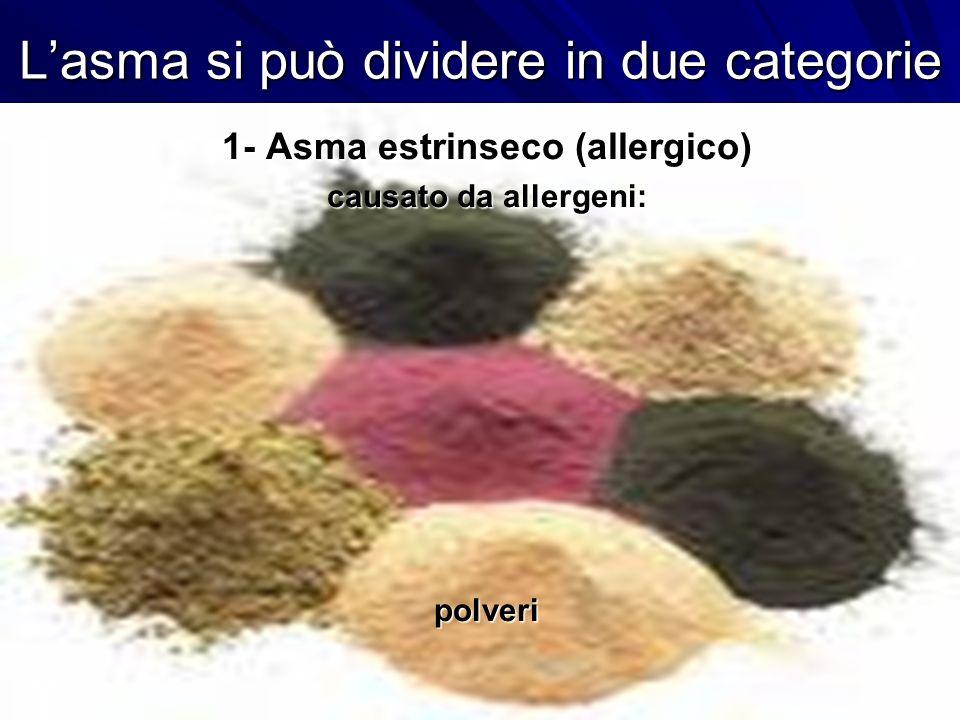 L'asma si può dividere in due categorie