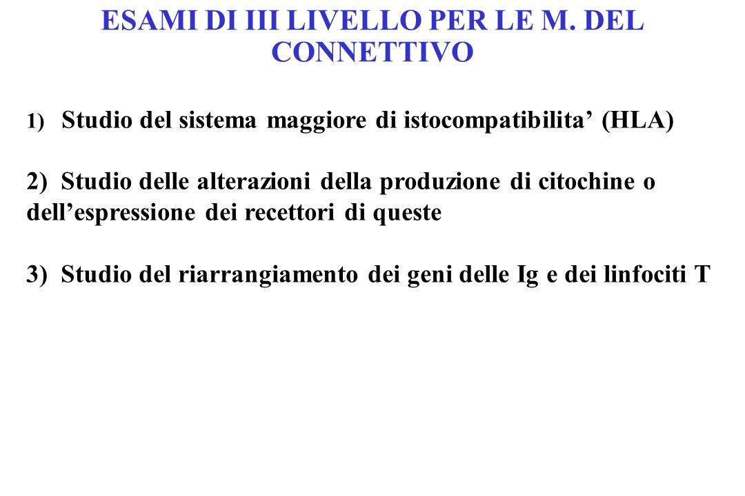 ESAMI DI III LIVELLO PER LE M. DEL CONNETTIVO