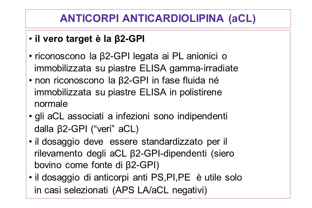 ANTICORPI ANTICARDIOLIPINA (aCL)