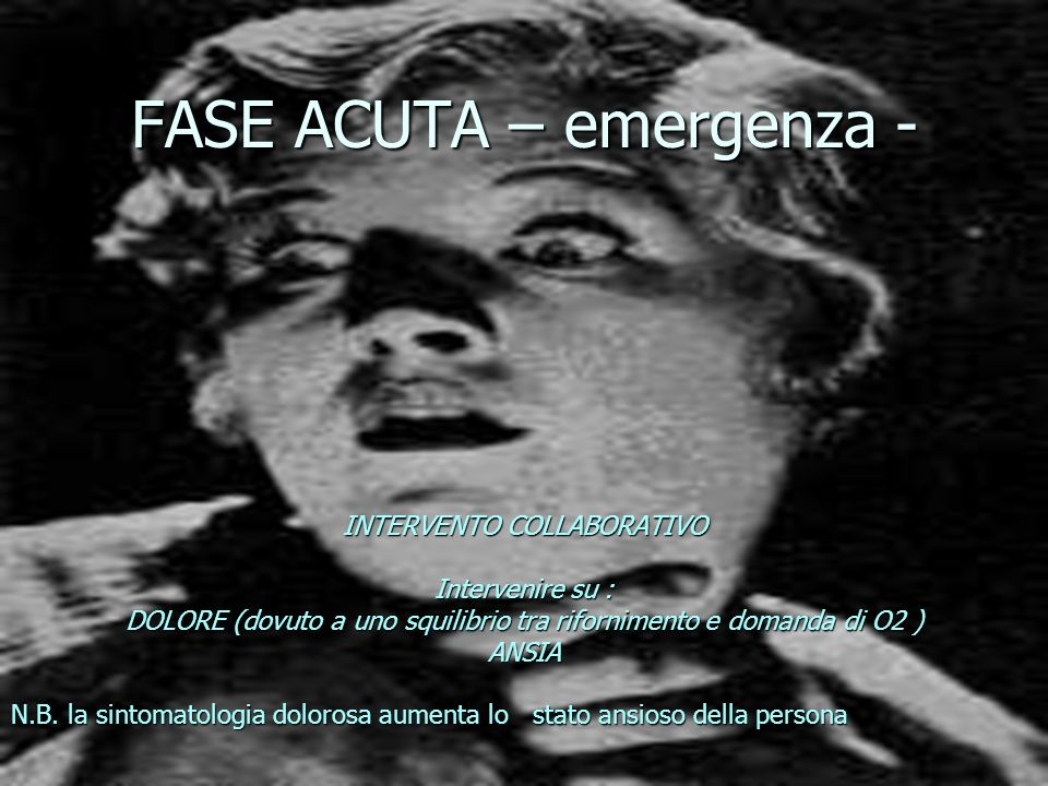 FASE ACUTA – emergenza -