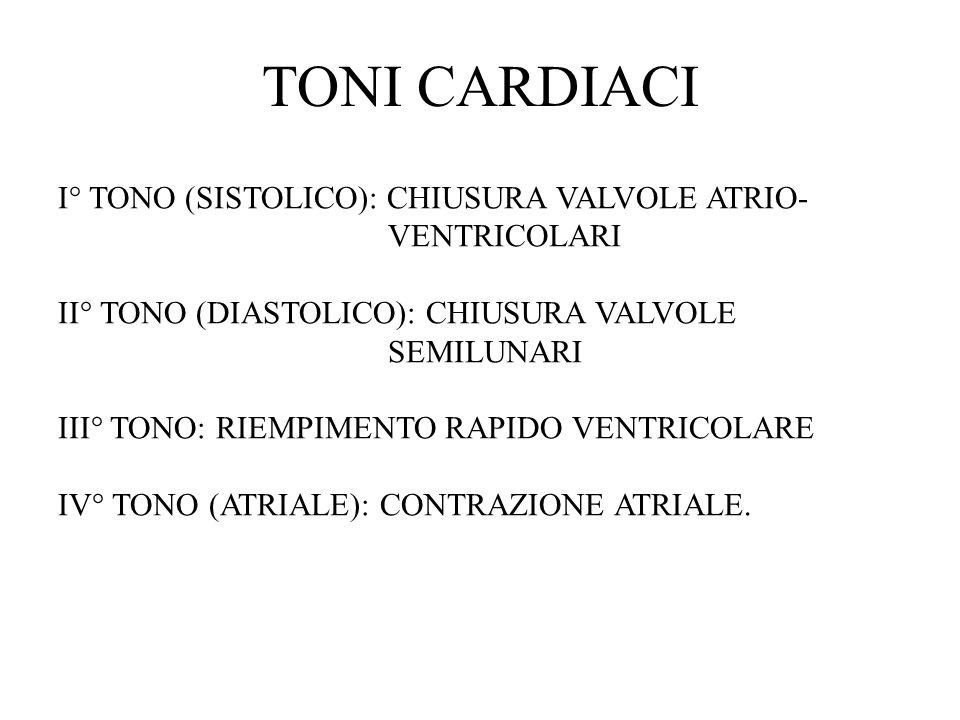 TONI CARDIACI I° TONO (SISTOLICO): CHIUSURA VALVOLE ATRIO-VENTRICOLARI