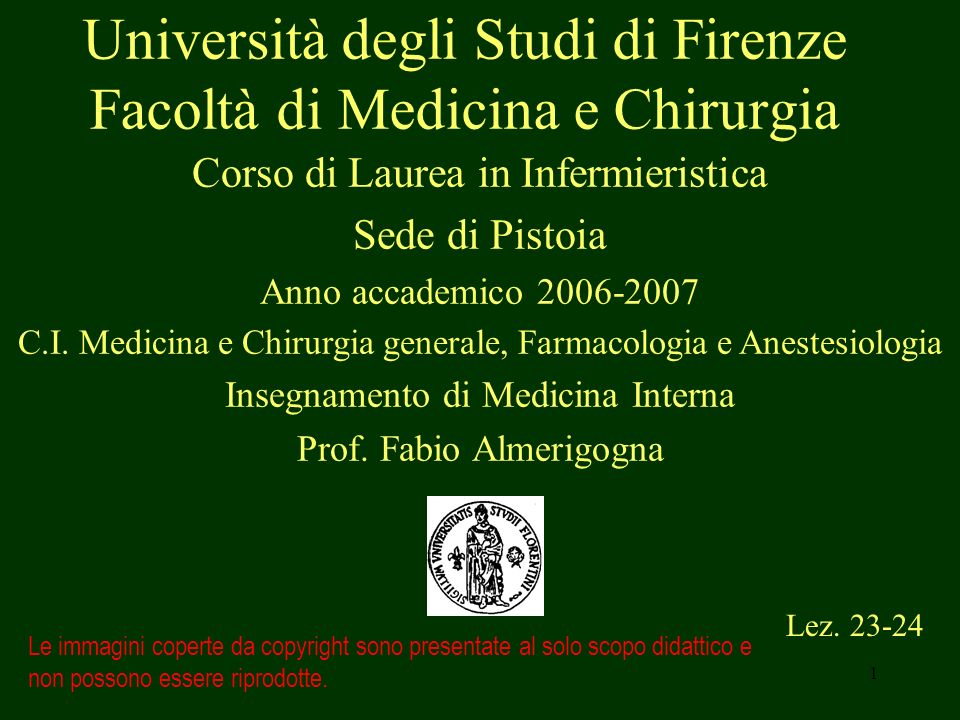 Università degli Studi di Firenze Facoltà di Medicina e Chirurgia