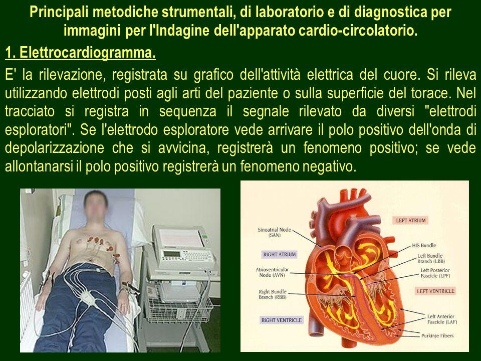 Principali metodiche strumentali, di laboratorio e di diagnostica per immagini per l Indagine dell apparato cardio-circolatorio.