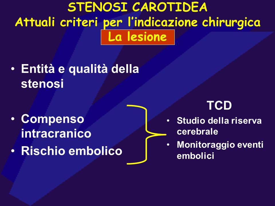 Entità e qualità della stenosi