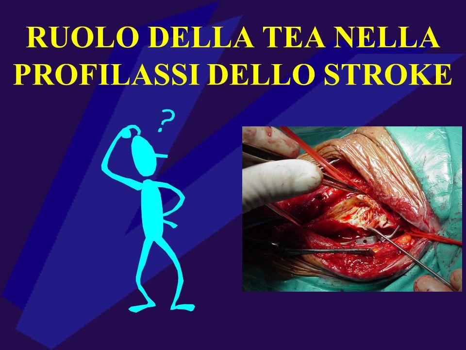 RUOLO DELLA TEA NELLA PROFILASSI DELLO STROKE