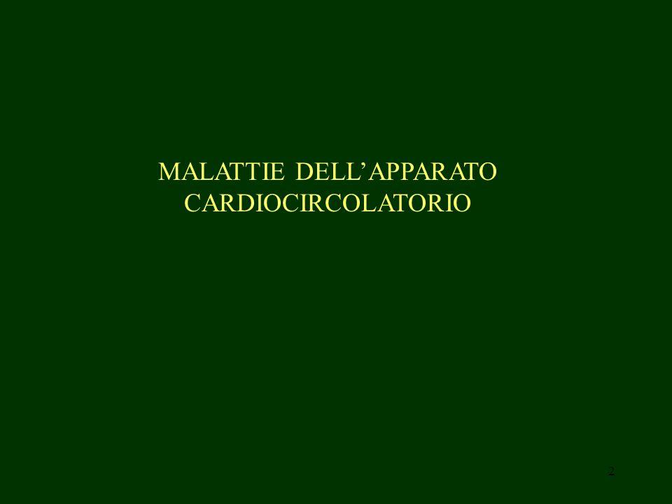 MALATTIE DELL'APPARATO CARDIOCIRCOLATORIO