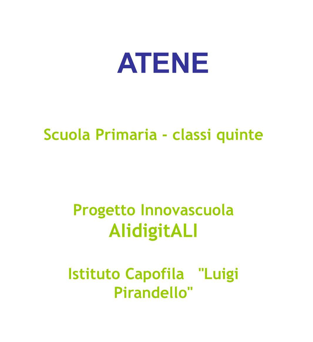 ATENE AIidigitALI Scuola Primaria - classi quinte