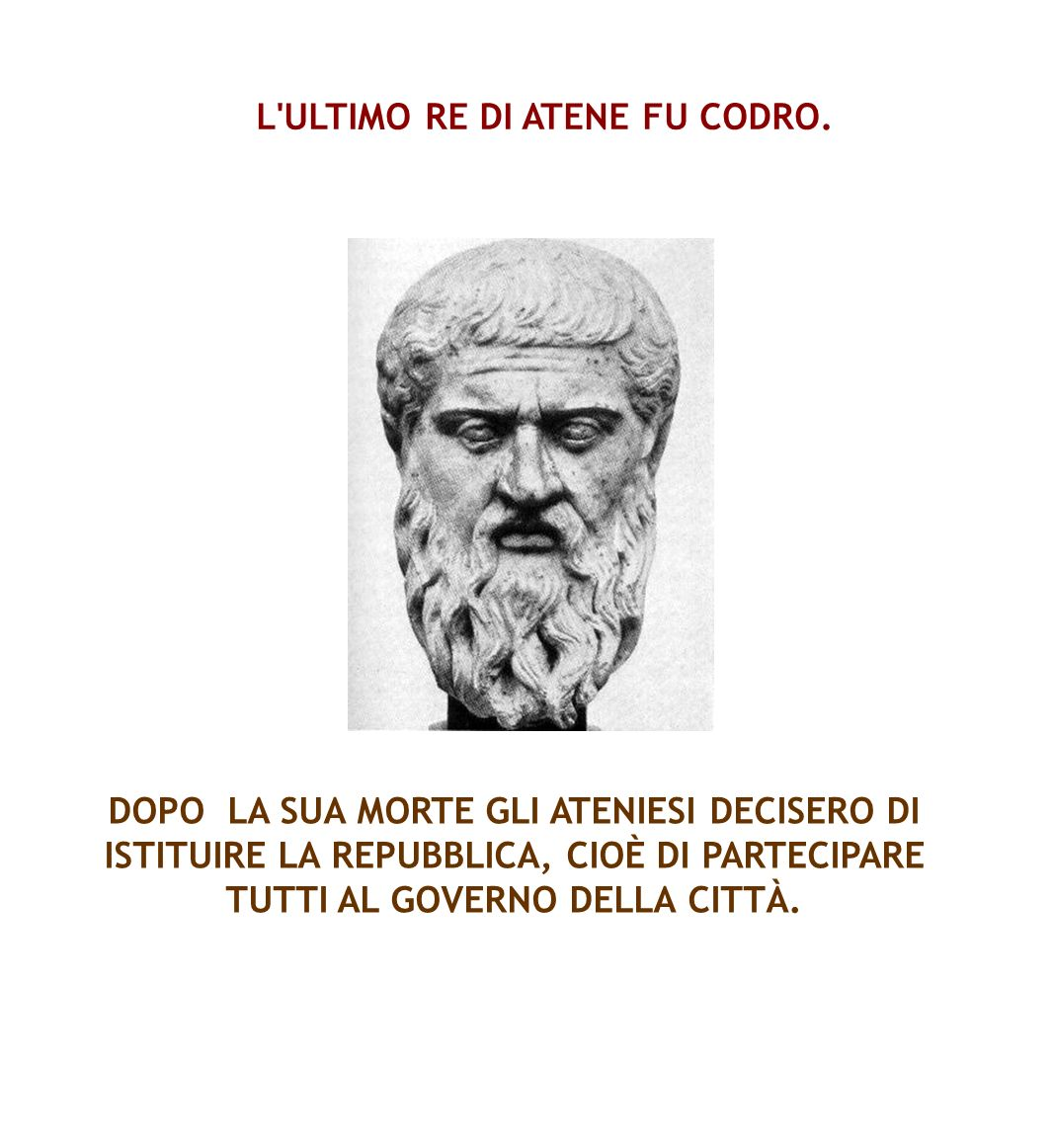 L ULTIMO RE DI ATENE FU CODRO.