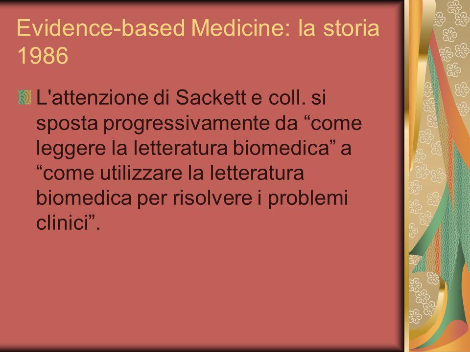 Evidence-based Medicine: la storia 1986