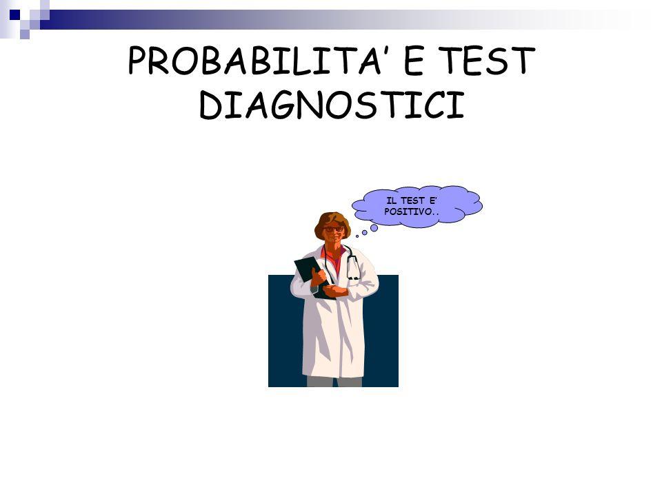 PROBABILITA' E TEST DIAGNOSTICI
