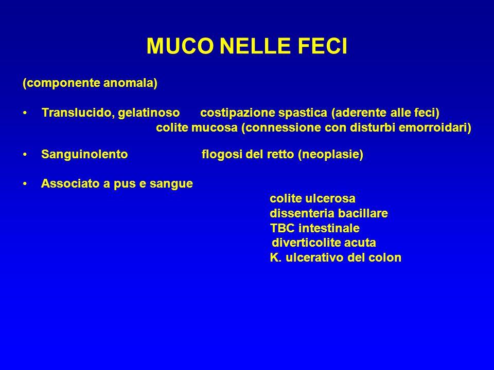MUCO NELLE FECI (componente anomala)