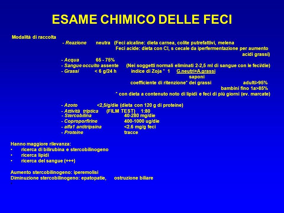 ESAME CHIMICO DELLE FECI
