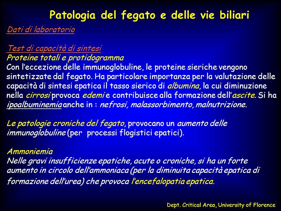 Patologia del fegato e delle vie biliari