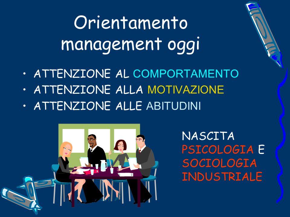 Orientamento management oggi