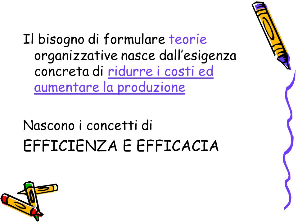 EFFICIENZA E EFFICACIA