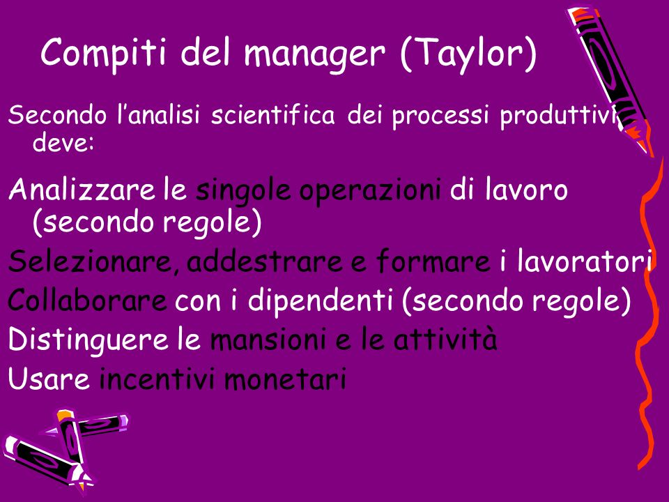 Compiti del manager (Taylor)