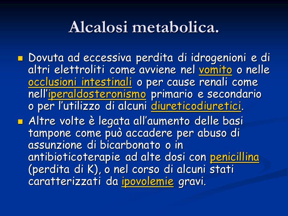 Alcalosi metabolica.