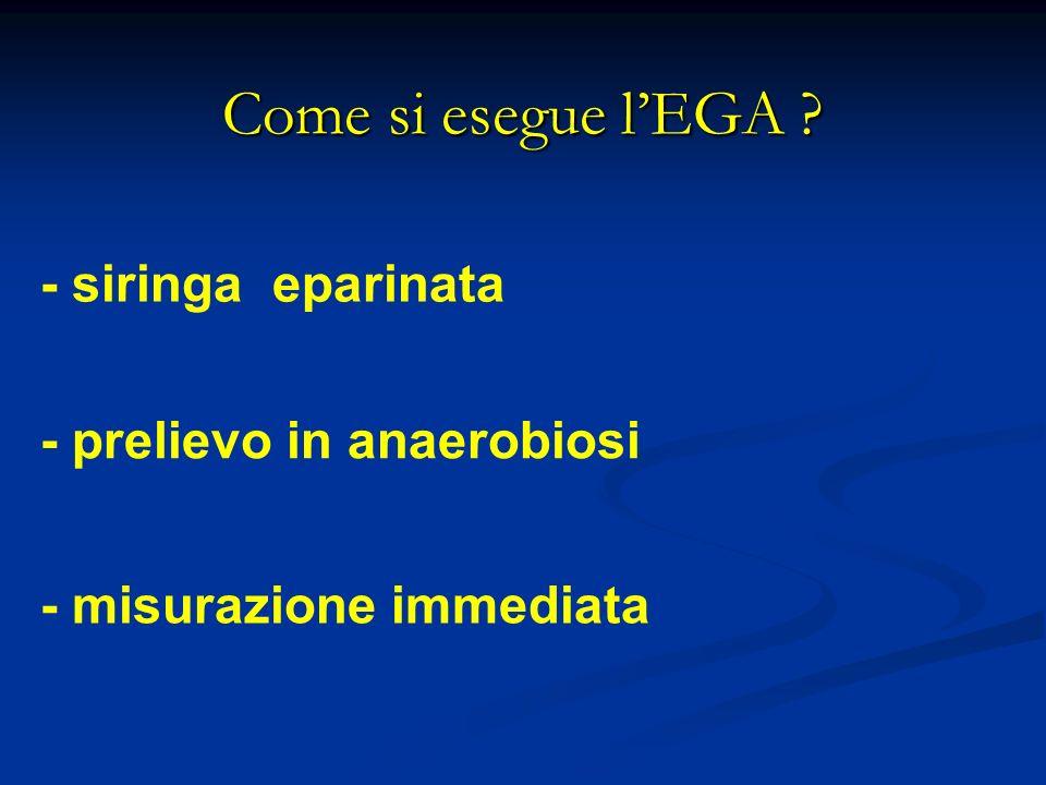 Come si esegue l'EGA - siringa eparinata - prelievo in anaerobiosi