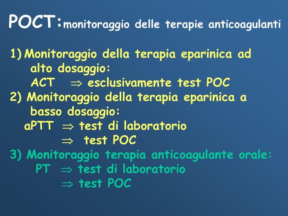 POCT:monitoraggio delle terapie anticoagulanti