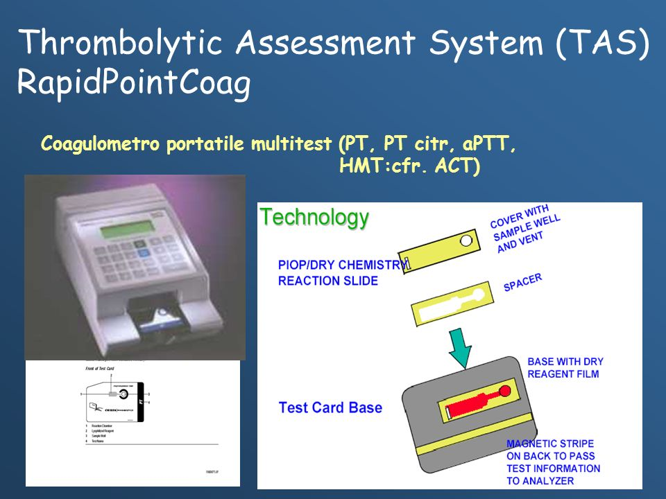 Thrombolytic Assessment System (TAS) RapidPointCoag