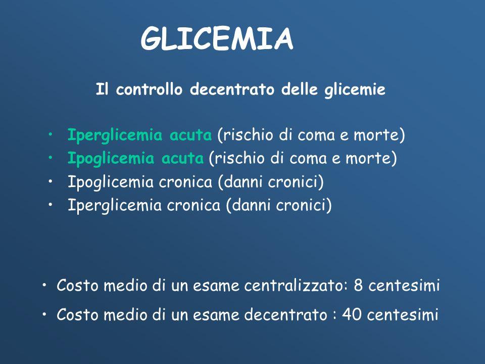 Il controllo decentrato delle glicemie