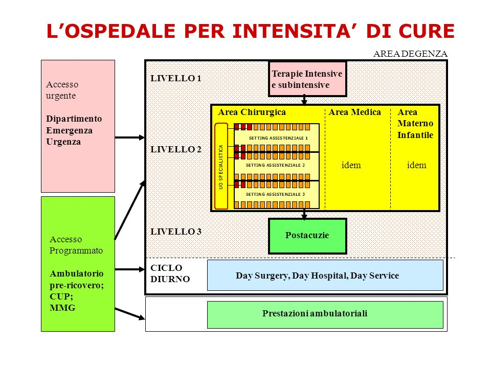 L'OSPEDALE PER INTENSITA' DI CURE