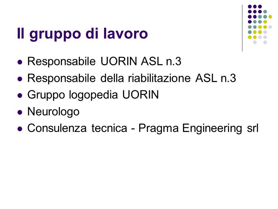 Il gruppo di lavoro Responsabile UORIN ASL n.3