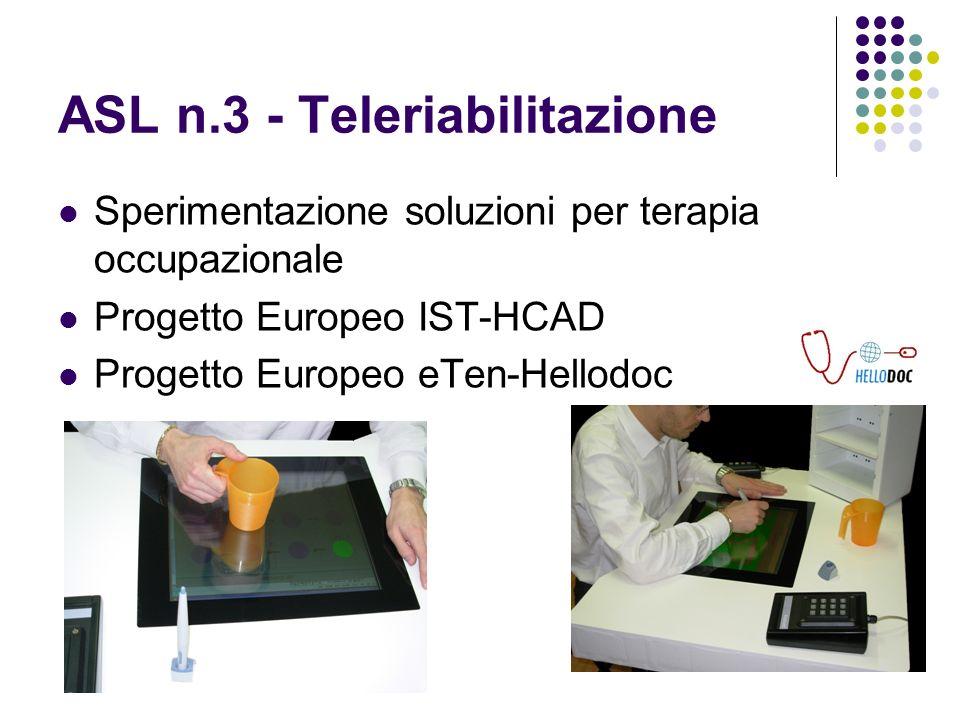 ASL n.3 - Teleriabilitazione