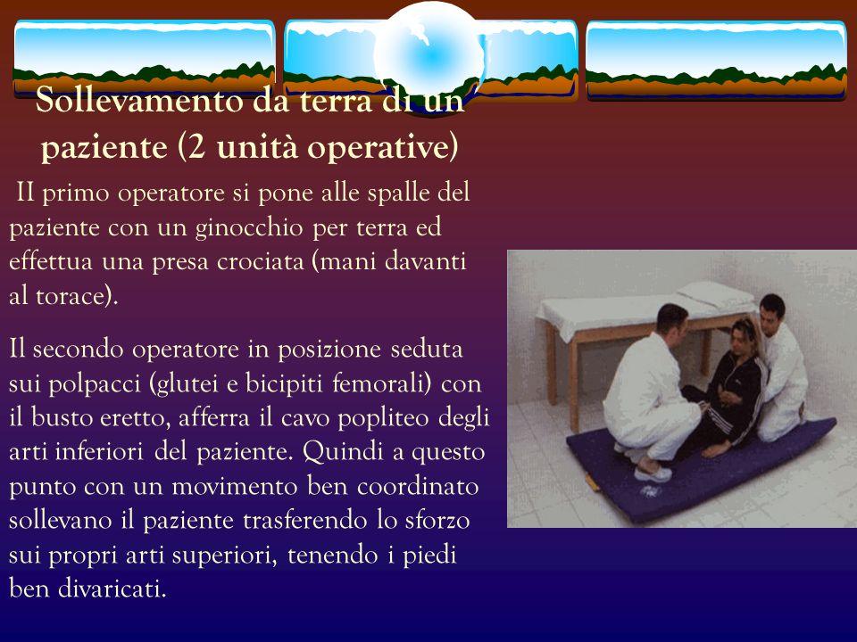 Sollevamento da terra di un paziente (2 unità operative)