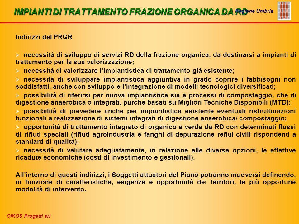 IMPIANTI DI TRATTAMENTO FRAZIONE ORGANICA DA RD