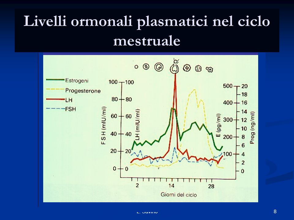 Livelli ormonali plasmatici nel ciclo mestruale