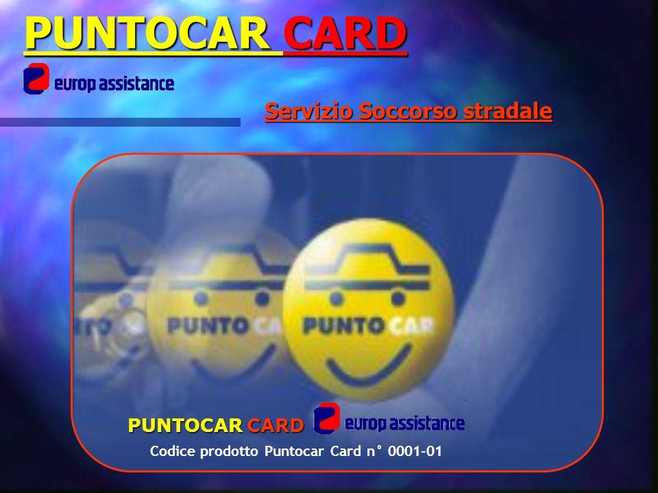 Codice prodotto Puntocar Card n° 0001-01