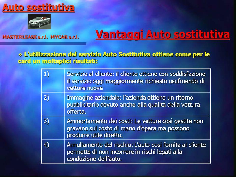 Vantaggi Auto sostitutiva