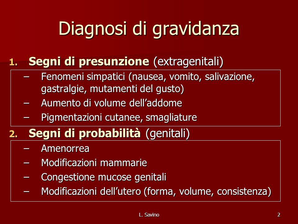 Diagnosi di gravidanza
