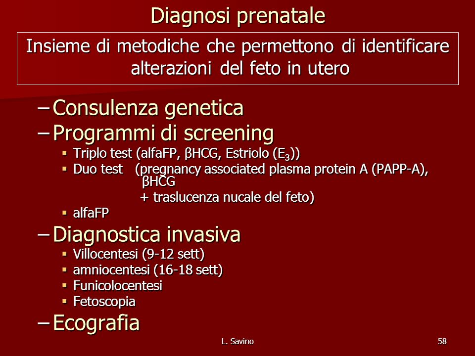 Programmi di screening
