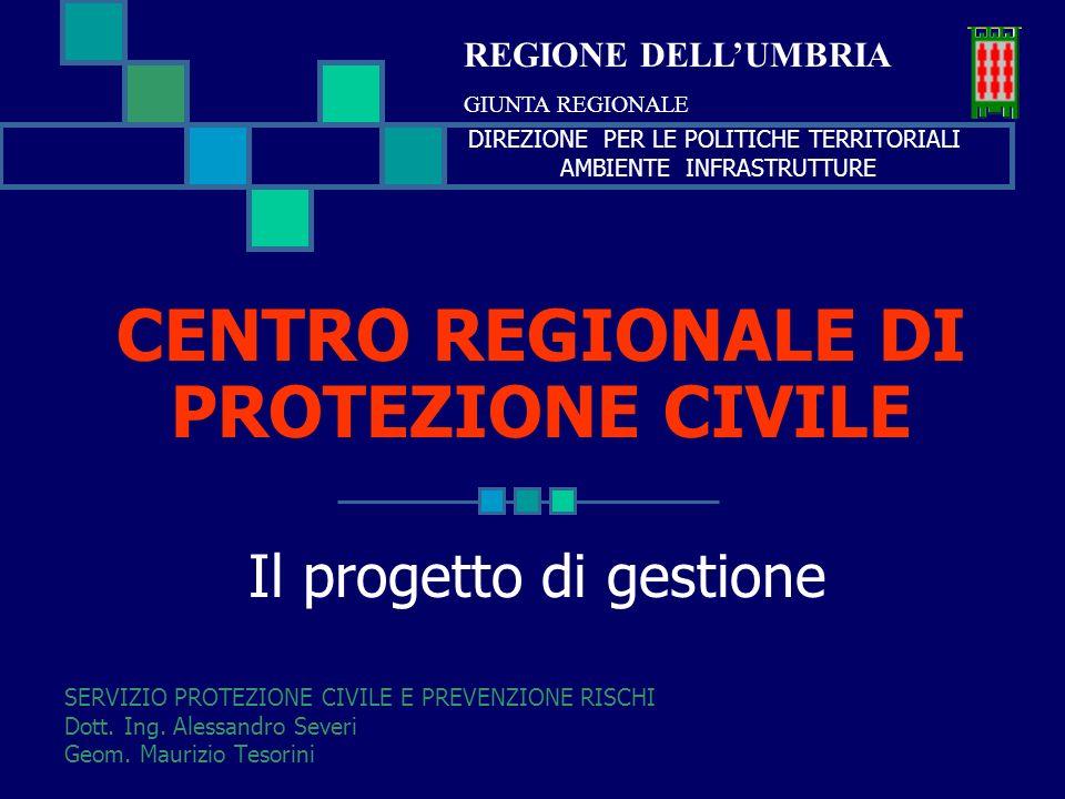 CENTRO REGIONALE DI PROTEZIONE CIVILE