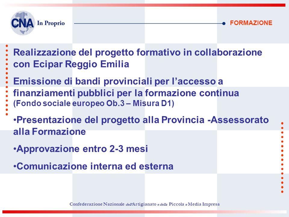 Presentazione del progetto alla Provincia -Assessorato alla Formazione