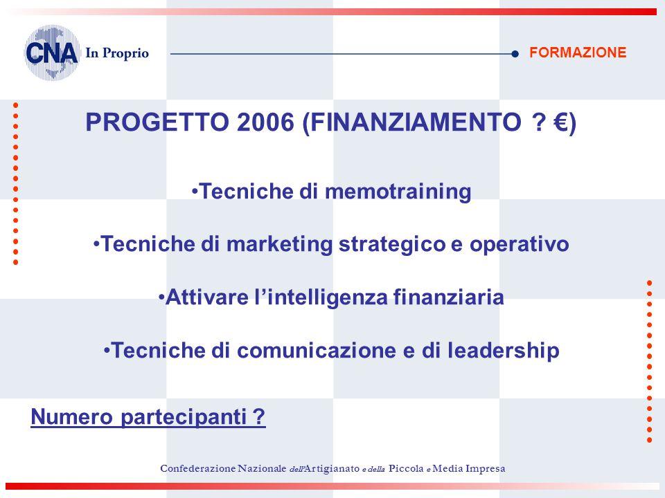 PROGETTO 2006 (FINANZIAMENTO €)