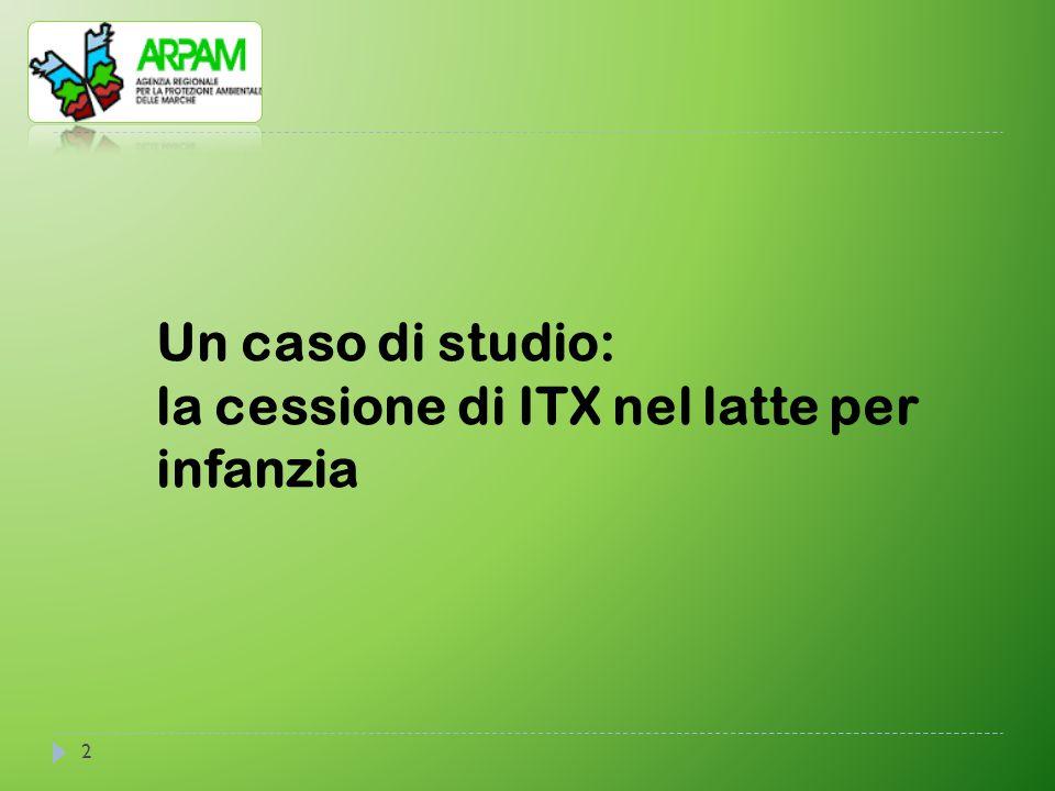 Un caso di studio: la cessione di ITX nel latte per infanzia