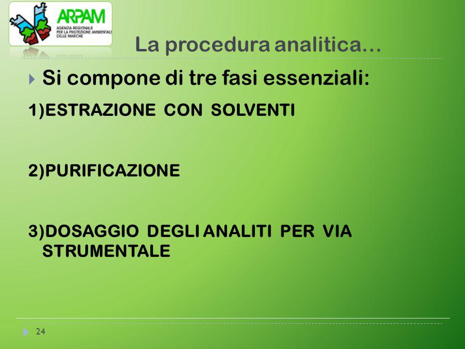 La procedura analitica…